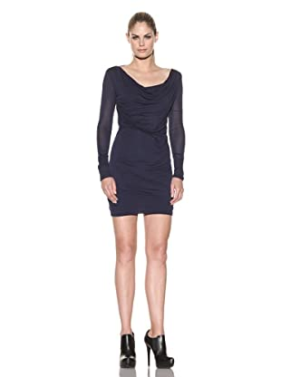 Improvd Women's Twisted Front Knit Dress (Blue)