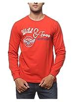 SPYKAR Men Cotton Orange Casual Shirt (XX-Large)