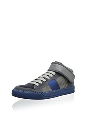 Lanvin Men's High-Top Sneaker (Gris)