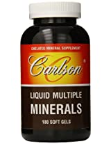 Carlson Labs Liquid Multiple Minerals Soft Gels, 180 Count