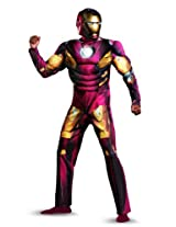 Disguise Marvel's Avengers Movie Iron Man Classic Muscle Adult Costume, Red/Gold, XX-Large/(50-52)