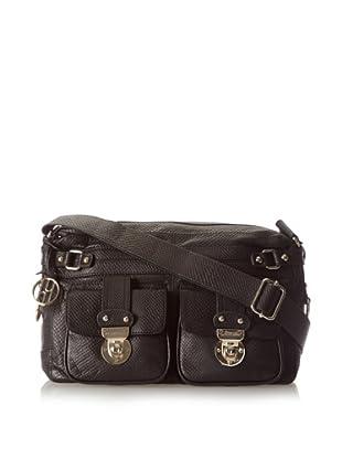 Hayden Harnett Women's Conrad Shoulder Bag, Black Cobra