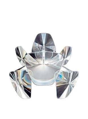 Luceplan Wandleuchte Hope D66/3A kristall/chrom Ø 48 L43 P28,5 cm