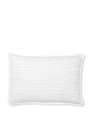 Vera Wang Crinkle Plaid Decorative Pillow, White, 15