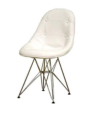 Baxton Studio Justina Vinyl Eiffel Chair, White