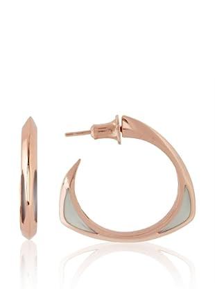 Katie Rowland Ice Blue Candy Lilith Enamel Tri-2 Window Earrings