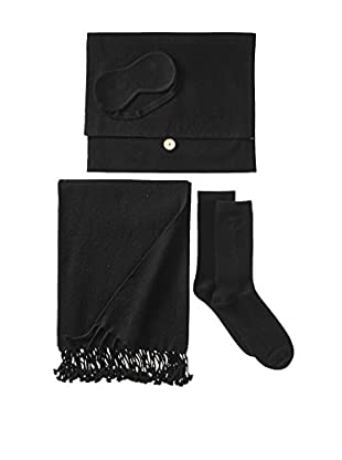Nine Space Cashmere Travel Set, Black
