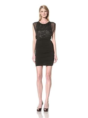 Marc New York Women's Ruched Skirt Dress (Black)