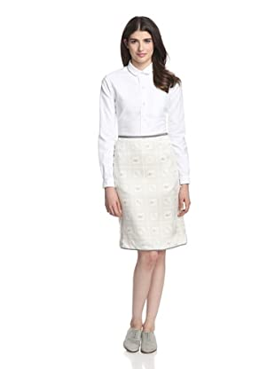 Thom Browne Women's Scallop Skirt (Grey)
