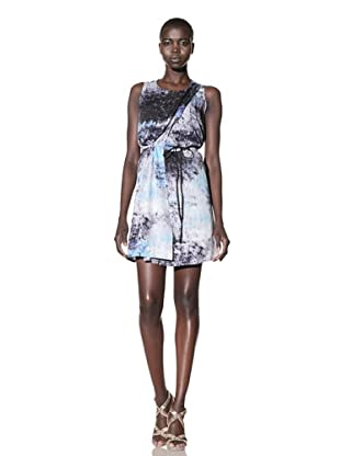 Improvd Women's Sean Sleeveless Dress (Blue Fire Print)
