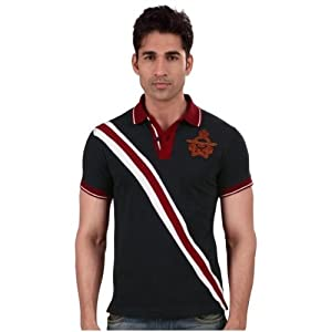 Vettorio Fratini Lifestyle-Mens Short Sleeves Polo Neck Stripe T-Shirt