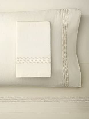Downright Windsor Braid Sateen Embroidered Sheet Set