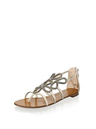 Lola Cruz Women's Flat Sandal (Off white)