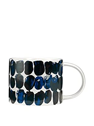 Kate Spade Saturday Saturday Morning Blue Paint Spots Mug