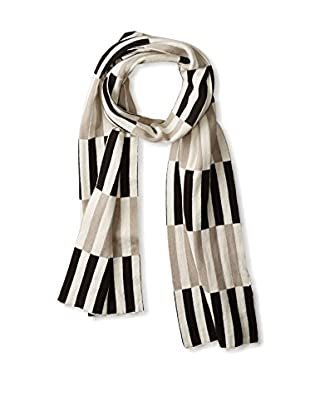 Torre & Tagus Block Weave Jacquard Cotton Scarf, Black/White