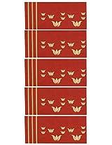 Karmyog Paper Envelope (8.75 cm x 19.37 cm, Maroon, Pack of 5)