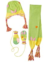 Kidorable Little Girls' Fairy Hat Scarf Set, Green, Small