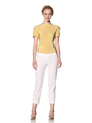 Philosophy di Alberta Ferretti Women's Slim Fit Cropped Pant (White)