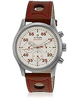 1634Sl04 Brown/White Chronograph Watches