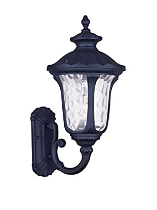 Crestwood Oakley 1-Light Wall Lantern, Black
