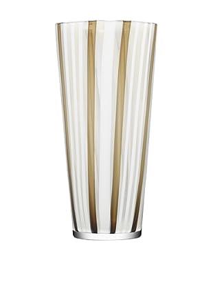 Kosta Boda Cabana Vase (Clear/Gold)