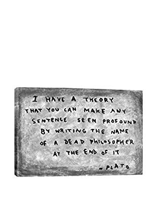Banksy Fake Plato Quote (Newspaper Background) Gallery Wrapped Canvas Print