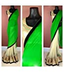 Georgette Embroidered Green Bollywood Style Saree - Get283