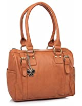 Butterflies Women's Handbag (Tan) (BNS 0259 TN)