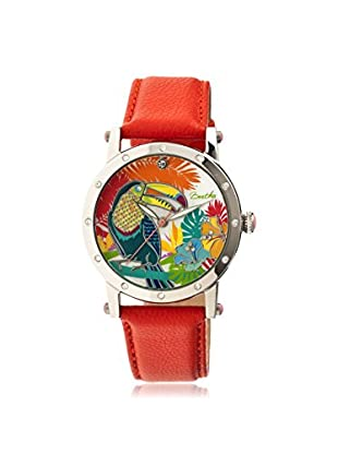 Bertha Women's BTHBR4402 Gisele Orange/Multicolor Leather Watch