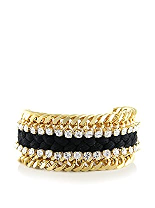 Ettika Black & 18K Gold-Plated Dazzler Bracelet