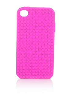 Rebecca Minkoff Women's Pyramid Stud iPhone 4 Case (Pink)