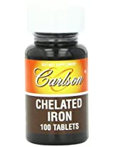 Carlson Labs Chelated Iron 27mg, 100 Tablets