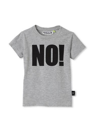 NUNUNU Kid's NO! Tee (Heather Grey)