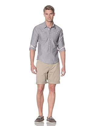 Rhythm Men's Gringo Woven Long Sleeve Shirt (Black)