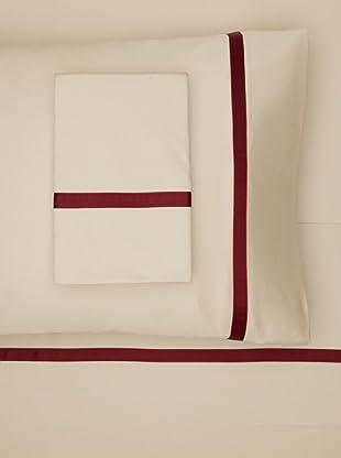 Errebicasa Egadi Sheet Set (Taupe/Wine)