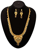 Vendee Fashion 24 k Gold Plated Necklace Set (6935)
