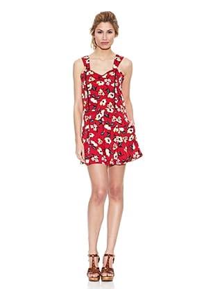 Peace & Love Mono Floral Corto (Rojo)