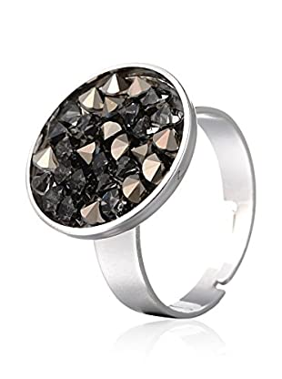SWAROVSKI ELEMENTS Anillo Round Antracita