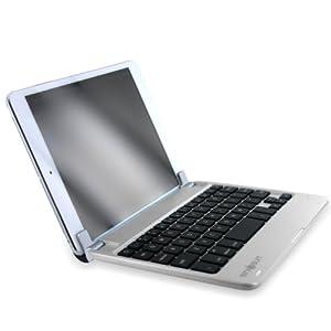 Amazon.co.jp: 【MiniSuit NewYork】Apple iPad mini Bluetooth ワイヤレス キーボード ハード素材 サテンフィニッシュ スタンドカバー 全5色 シルバー: 家電・カメラ