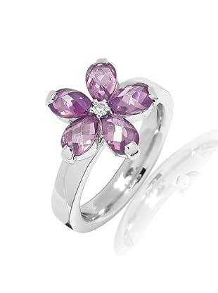 Nahla Jewels Ring Sterling Silber Zirkonia (amethyst/weiß)