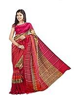 Ishin Bhagalpuri Silk Red Saree