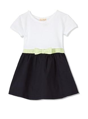 Upper School Girl's 2-fer Dress (Navy/White)