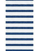 Caspari Entertaining 30-Pack Bretagne Guest Towels, Blue