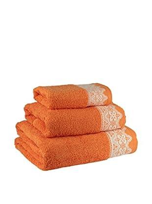 Tu Casa Juego de toallas 3 piezas Puntilla