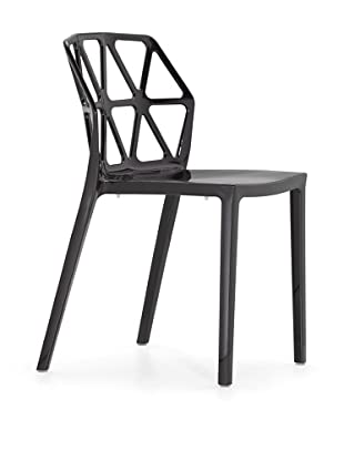 Zuo Set of 4 Juju Stacking Outdoor Dining Chairs (Black)