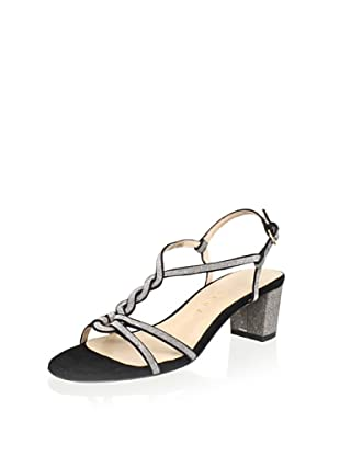 Lola Cruz Women's Mid Heel Sandal (Negro)