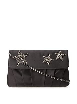Inge Christopher Women's Santa Ynez Flap Clutch with Cross-Body (Black)