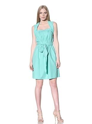 ESCADA Women's Sleeveless Dress with Pleated Bodice (Pastel Green)