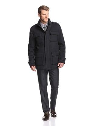 Calvin Klein Men's Field Coat (Charcoal Luxe Twill)