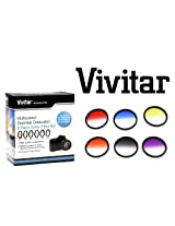 Vivitar 77mm Graduated Color Multicoated Filter Set (Red, Yellow, Blue, Orange, Gray, Purple & Case)